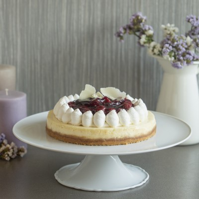 Baked cherry cheese cake750gms