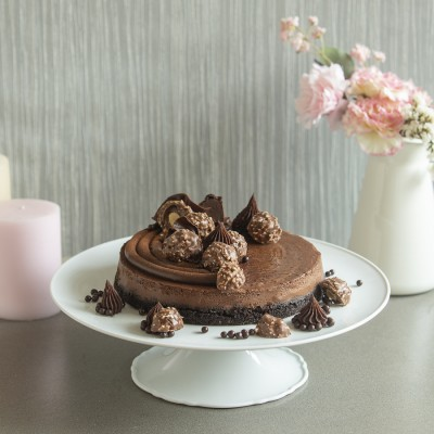 Baked  Chocolate Ferrero Cheese cake 875gms