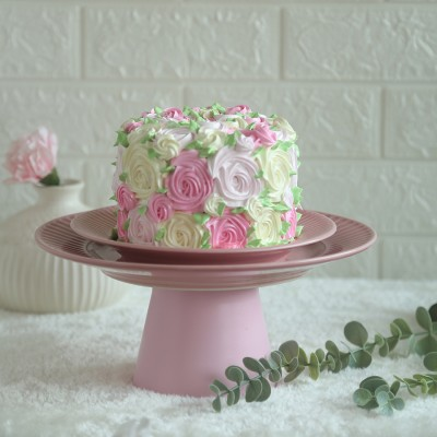 Colourful Rosette cake