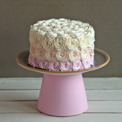 Purple shaded Rosette cake 750gms