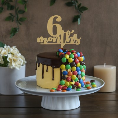 M&M's overloaded chocolate cake 750gms with 6months topper