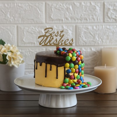 M&M's overloaded chocolate cake 750gms with Best Wishes topper