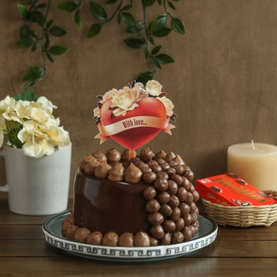 Nutties Overloaded Chocolate cake 750gms with With Love topper