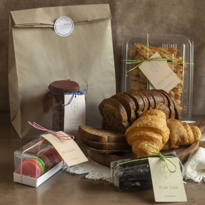 Multigrain  Bread, Chocolate Hazelnut Cookies, Cheese Straws, Plum  cake(contains egg),Box of 5 assorted Macrons (contains egg) Butter Croissants(2pcs)