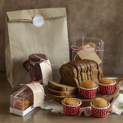 Multigrain Bread, Red Velvet Cookies, Candied  Lemon Orange Cake, Palmiers, Blue Berry Muffins (contains Egg)