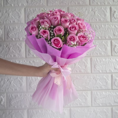 Bouquet of 20 pink Roses
