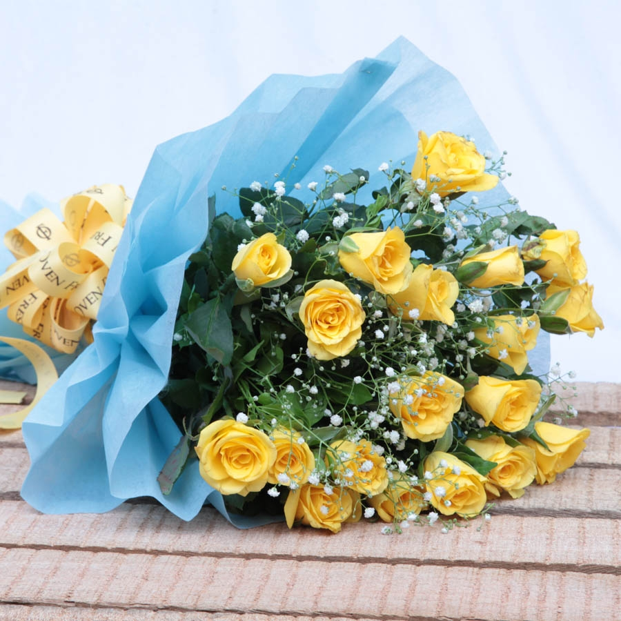 bouquet of yellow roses flowers