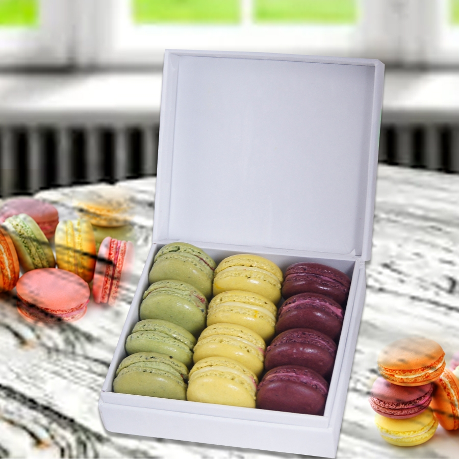 Diwali Card with Box of 20 Macaron ( contains Egg)