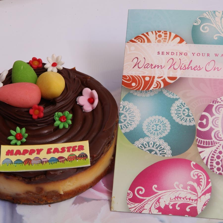 Easter card with  caramel cheese cake 500gms