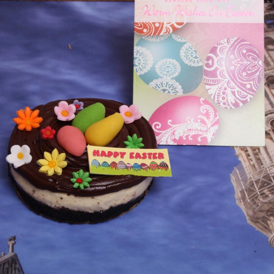Easter Card with  Chocolate cheese cake 500gms