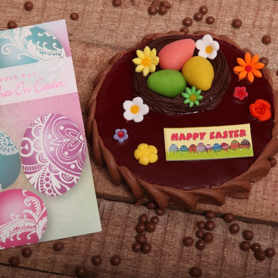 Easter Card with Chocolate Crousillant 500gms