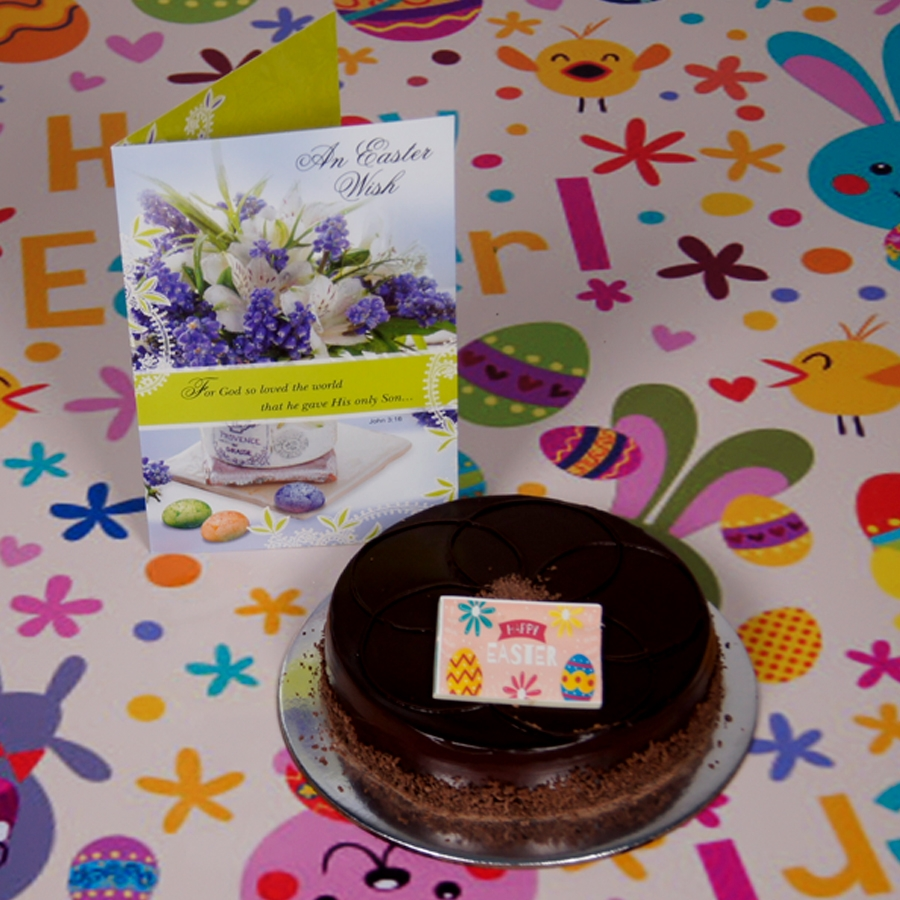 Easter Chocolate dutch truffle shine 500gms Eggless with card
