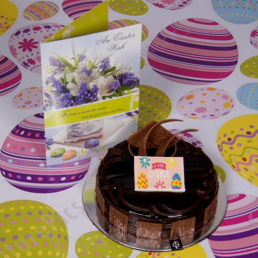 Easter chocolate dutch truffle 500gms with card