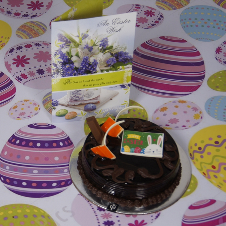 Easter Chocolate KitKat cake  500gms with card