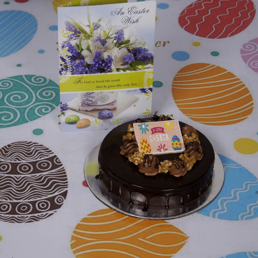 Easter Chocolate walnut dutch truffle 500gms with card