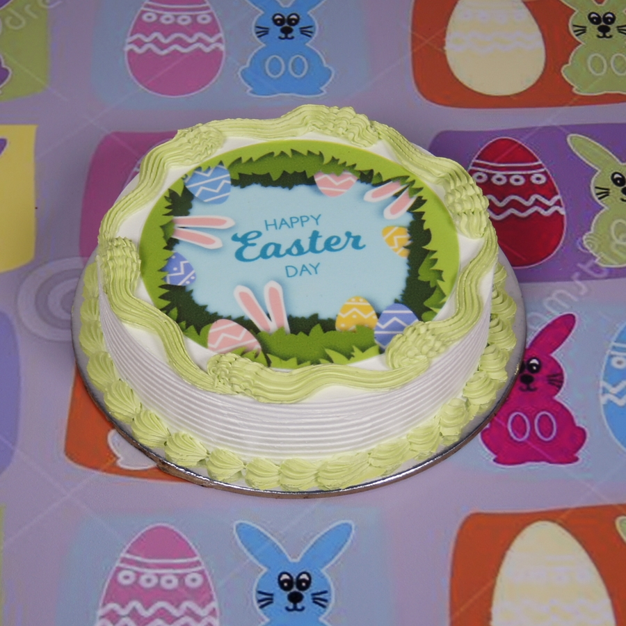 Easter photo cake green 500gms eggless