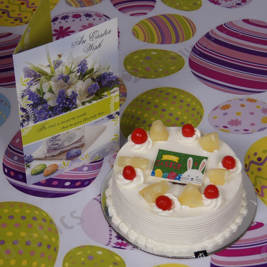 Easter Pineapple cake 500gms with card