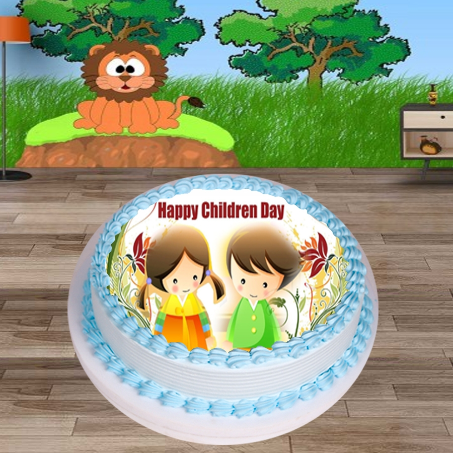 Happy Childrens day friends Round shape 500gms Eggless