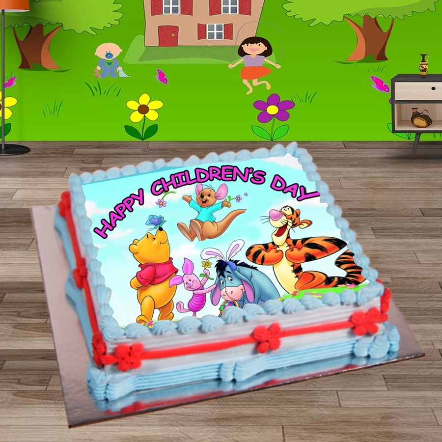 Happy Childrens day winnie the pooh & friends 500gms eggless