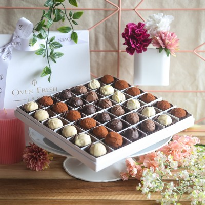 box of 36 chocolate truffles
