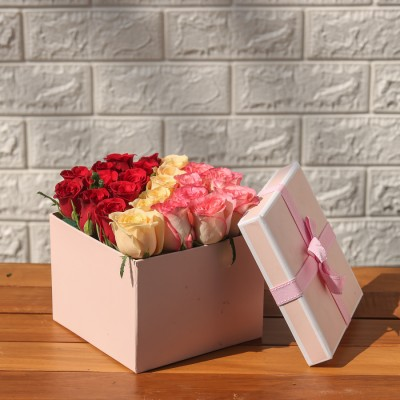 Box Of Mix Roses