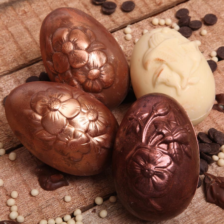 Easter eggs floral Dark Chocolate Egg 1 piece