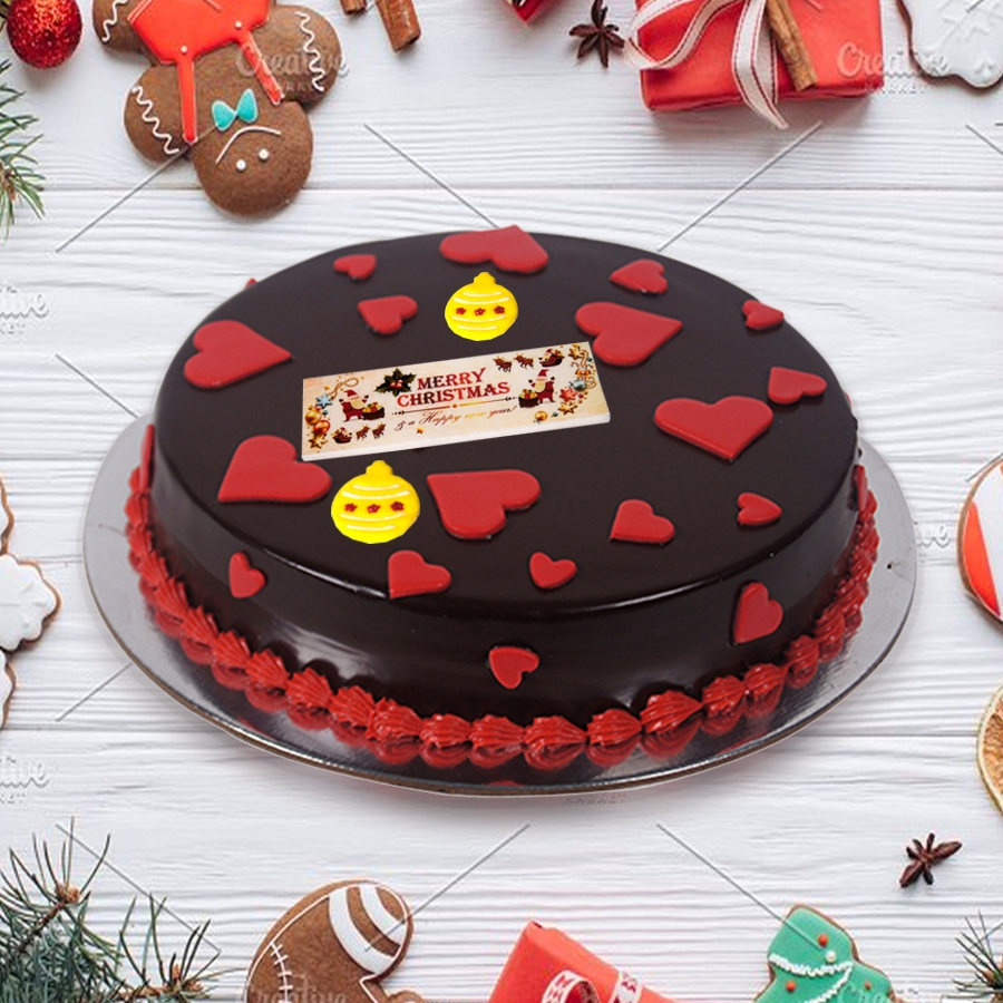 Merry Christmas dutch truffle love cake 500gms