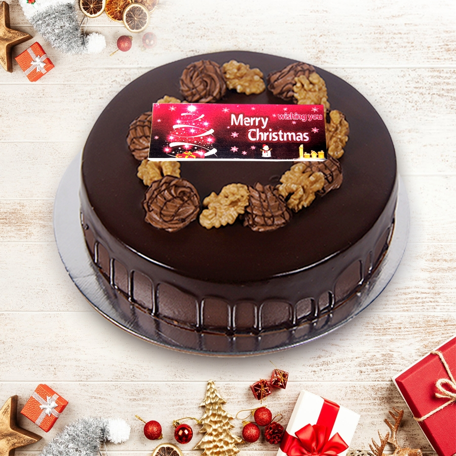 merry christmas dutch truffle walnut cake 500gms