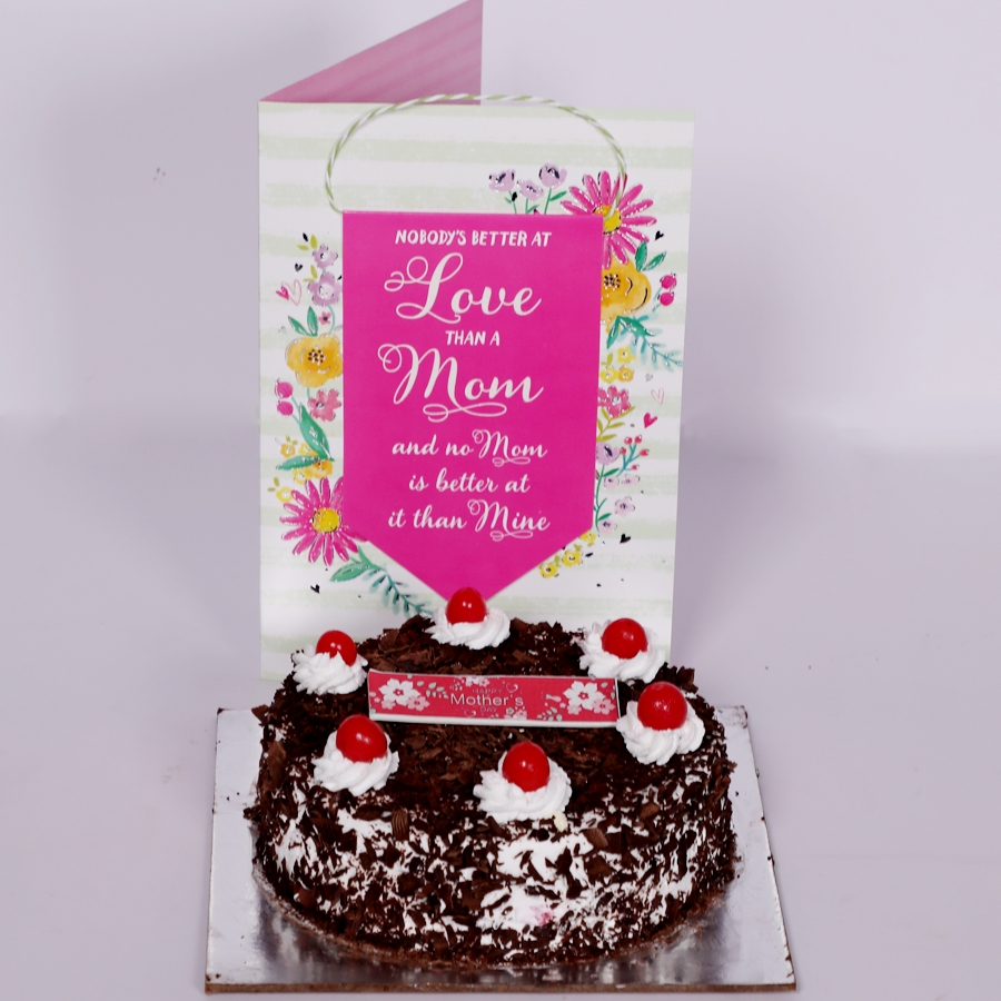 Mother Day Black Forest classic 500gms with card