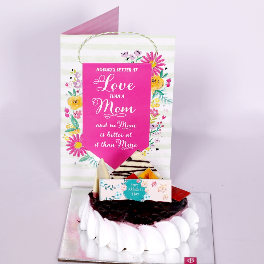 Mothers day Blueberry cheese cake 500gms eggless with Card