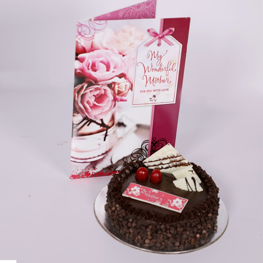 Mothers day Chocolate Chip dutch truffle cake 500gms with card