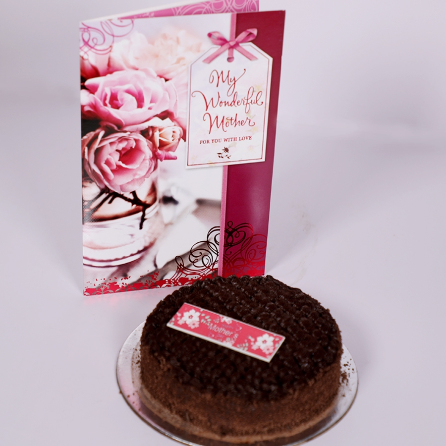 Mothers day Dutch truffle classic cake 500gms with card