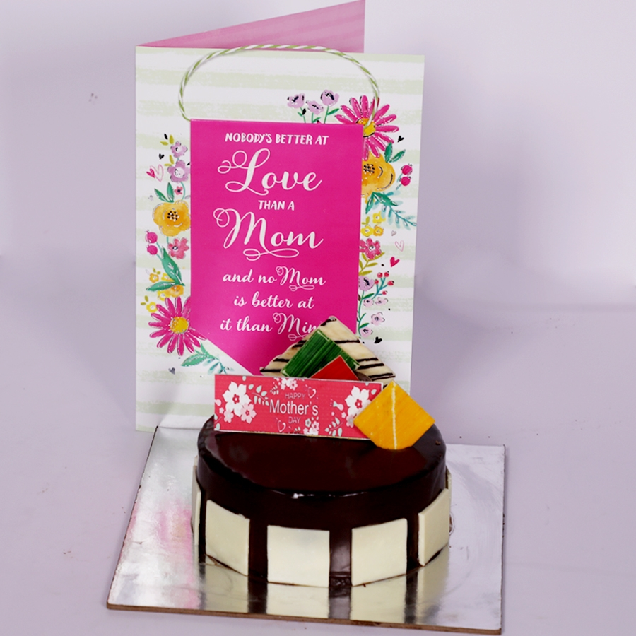 Mothers day Royal Chocolate mousse cake  eggless 500gms  with card