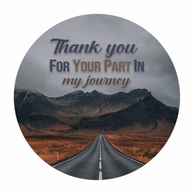 Thank you for your part in my journey photo cake 500gm