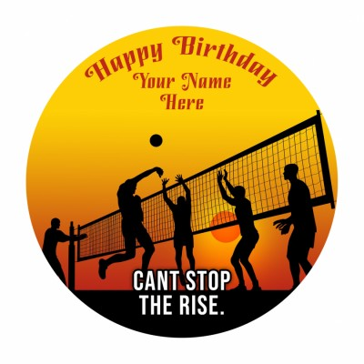 Volley Ball Photo Cake 500gms