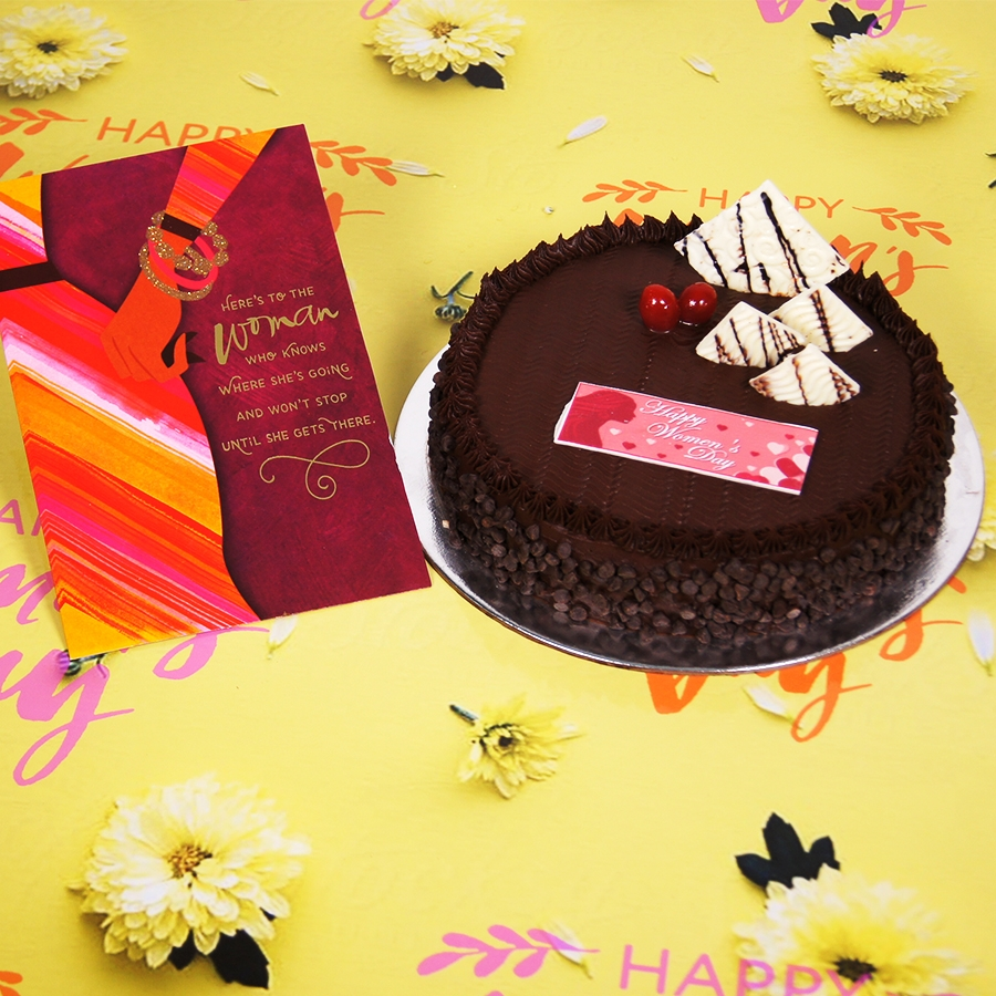 Womens day Chocolate Chip dutch truffle 500gms with card