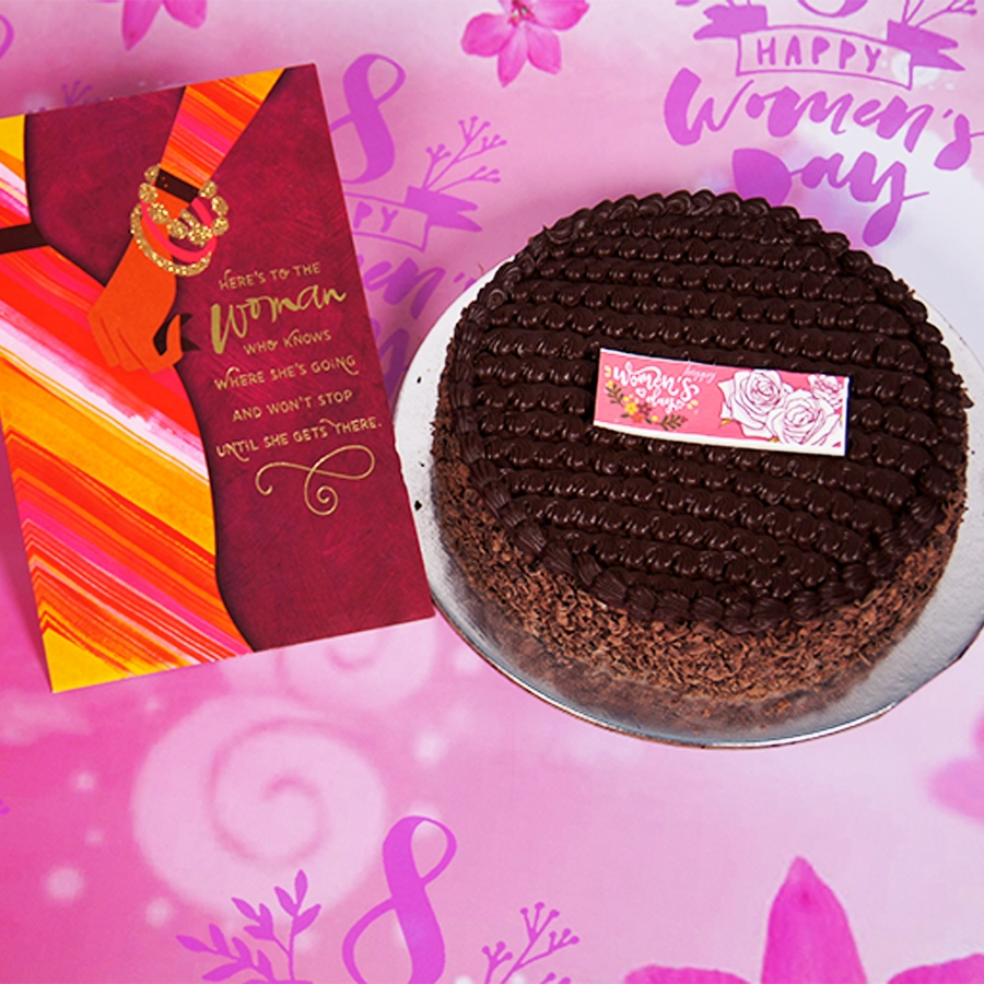 womens Day Dutch truffle classic cake 500gms With Card